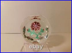SCARCE & Vintage Peter McDougall DAFFODIL FLOWER & Buds Art Glass Paperweight