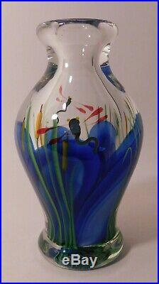 SENSATIONAL Vintage SALAZAR LUNDBERG STUDIOS DRAGONFLY ArtGlass Paperweight Vase