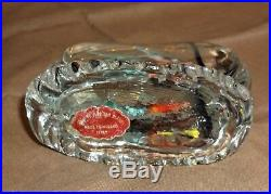 STUNNING VTG MURANO VENETIAN ART GLASS FISH AQUARIUM PAPERWEIGHT Original Label