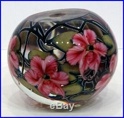 STUNNING! Vintage LOTTON Studio Art Glass HUGE! 7.5 Magnum PAPERWEIGHT DOORSTOP