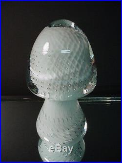Scarce Barbini Italian Glass Vintage Bullicante Mushroom Paperweight Murano Eame