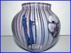 Scarce Vintage 1980 Josh Simpson Floral Paperweight Vase 752