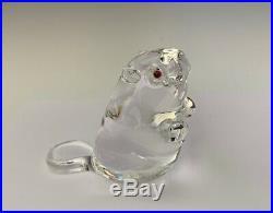 Signed Vintage Steuben Beaver Art Glass Figurine / Paperweight