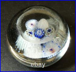 Small Antique vtg MILLEFIORI Art Glass PAPERWEIGHT from Estate Collectoion #3of5