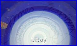 Stunning MAGNUM Vintage JAMES LUNDBERG Studio Earth WORLD Art Glass PAPERWEIGHT