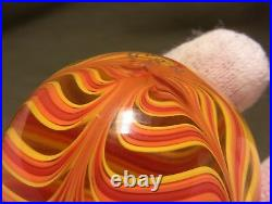 Ultra rare glass DREW FRITTS 2006 No. 2 Spider Style Marble Fiery Uranium