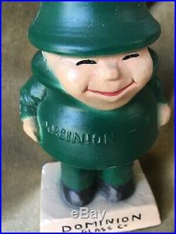 Unusual Vintage Advertising Mascot Figure Telephone Insulator Dominion Glass