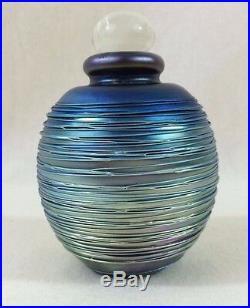 VINTAGE 1985 (Early) Eickholt Perfume Bottle Iridescent Purple Signed & Dated