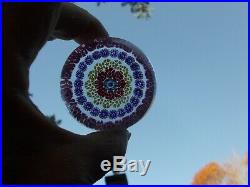VIntage BACCARAT France Millefiori Glass Paperweight Signed