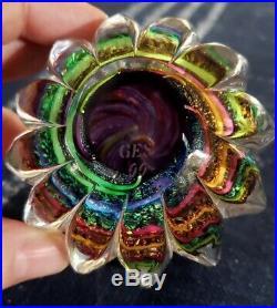 VTG 1999 GES Glass Eye Studio 12 Planets Solar Sun Earth Celestial Paperweight