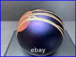VTG Correia HARVEST MOON 1991 Art Glass Paperweight