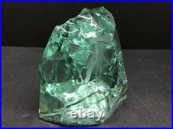 VTG KOSTA Green ICE CAVE Deer Art Glass Paperweight V LINDSTRAND Signed 2 POUND