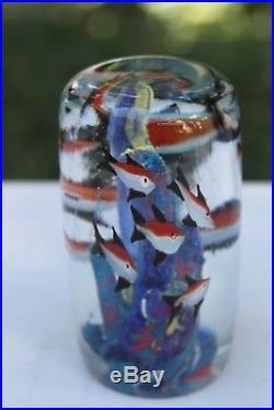 VTG Murano Art Glass Fish Tank Aquarium Paperweight