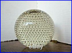 VTG PAIRPOINT Art Glass CONTROLLED BUBBLE Crystal 4 PAPERWEIGHT - Gorgeous