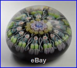 VTG Perthshire Scotland Art Glass Millefiori & Swirls Large 3 paperweight