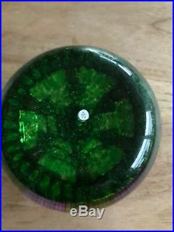 Vintage 1992 P Perthshire Magnum Art Glass Paperweight Millefiori Arrow Cane