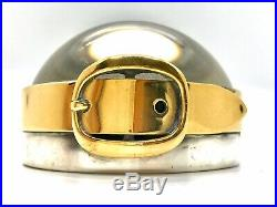 Vintage 80s Hermes Maria Pergay Brass Magnifying Glass Magnifier Paperweight