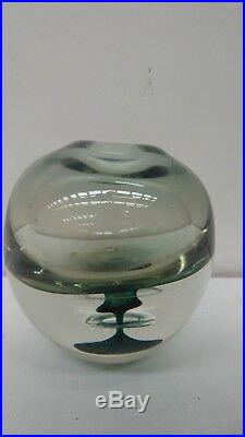 Vintage Art Glass Paper Weight / Vase By Clare Belfrage Signed 1989