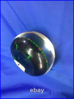 Vintage Art Glass Paperweight, SIGNED