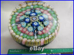 Vintage Art Glass- Perthshire Paperweight- Numbered 82- Dated Bottom Cane- #233