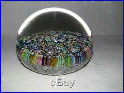 Vintage Art Glass Perthshire Scotland Millifiori Colorful Paperweight Land