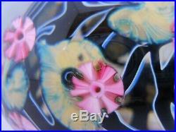 Vintage Art Glass- Signed John Lotton Magnum Encased Paperweight 4.25 x 3- 275
