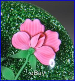 Vintage Baccarat Paperweight Limited Edition 13/200 1985 Ladybird & Flowers