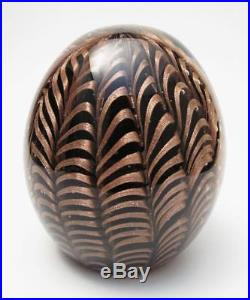 Vintage Barovier & Toso Italian Murano Art Glass Paperweight With Label