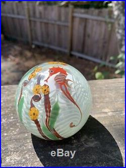 Vintage Buzzini Signed & Numbered Seahorse Paperweight