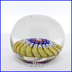 Vintage Footed Whitefriars Concentric Millefiori Paperweight Rabbit Cane GL