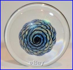 Vintage Glass Paperweight 5.5 Tall 1987 Robert Eickholt Artist CK0497