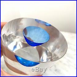 Vintage KOSTA BODA Sweden Art Glass Modernist PAPERWEIGHT-GORAN WARFF