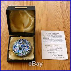 Vintage LE Perthshire PP19 1975 glass paperweight + cert + box / presse papiers