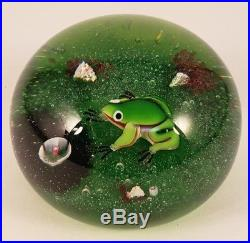 Vintage Limited Edition 1974 Baccarat Glass Frog Paperweight 193/250 France