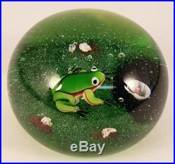 Vintage Limited Edition Baccarat Glass Frog Paperweight 193/250 France