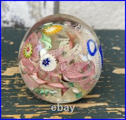 Vintage Made In Italy Murano Millefiori Glass Paperweight