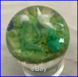 Vintage Mid Century Modern Paul Ysart Style Millefiori Glass Paperweight