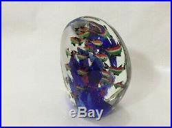 Vintage Murano Art Glass Fish Tank Aquarium Paperweight, 6 Tall, 4 Lbs 8 Oz