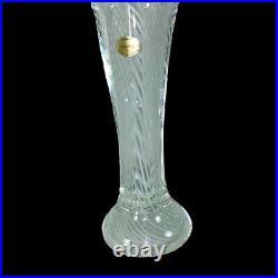 Vintage Murano Art Glass Paperweight Madonna Virgin Gold Venezia 12T Swirl