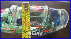 Vintage Murano Glass Aquarium Large Paperweight/ Sculpture over 9 Pounds