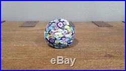 Vintage Murano Glass Millefiori Paper Weight By Fratelli Toso