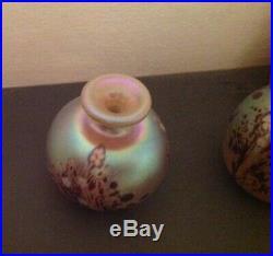 Vintage OKRA GLASS IRIDESCENT Set Paperweight, Perfume Bottles Stunning. VGC