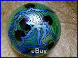 Vintage ORIENT AND FLUME HANGING HEART/VINES PAPERWEIGHT Blues, Green, 3, 1974