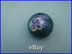 Vintage Orient & Flume Art Glass Spider Paperweight