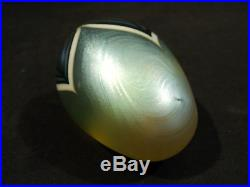 Vintage Orient & Flume Egg Shaped Art Glass Paperweight, Signed