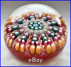 Vintage Perthshire Millefiori Twisted Cane Glass Paperweight Crieff Scotland