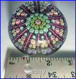 Vintage Perthshire Paperweight Millefiori Canes