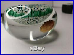 Vintage Quality Art Glass- Murano Paperweight- Closepack Millefiori Canes