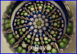 Vintage Quality Perthshire Spoke & Cane Millifiori Paperweight
