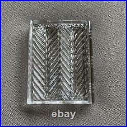 Vintage RALPH LAUREN Glen Plaid Crystal Book Paperweight Glass Preowned Stamped